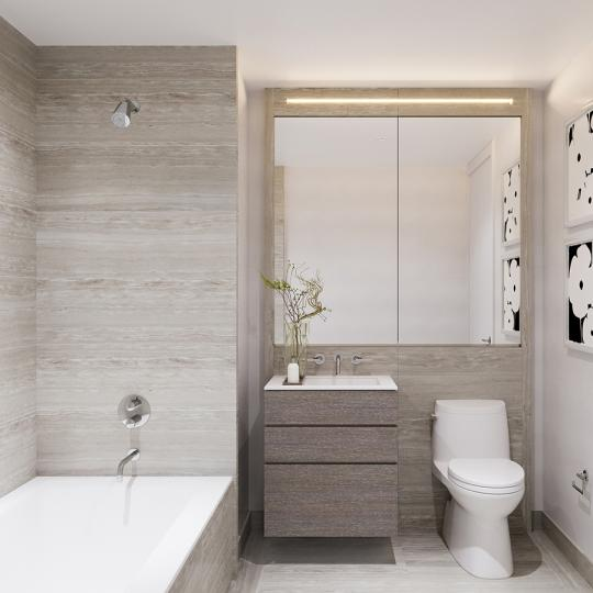 Apartments for sale at 635 West 59th Street in Manhattan - Secondary Bathroom