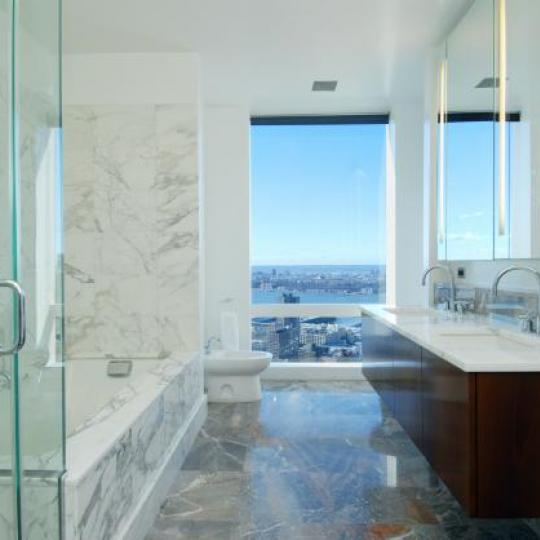 Bathroom at 25 Columbus Circle -  NYC Condos for Sale