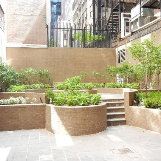 Apartments for sale at Tower 58 in NYC - Courtyard