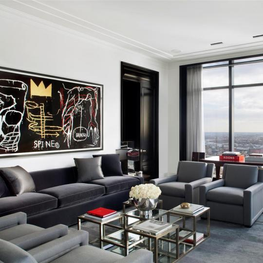 845 United Nations Plaza Living Room - NYC Condos for Sale