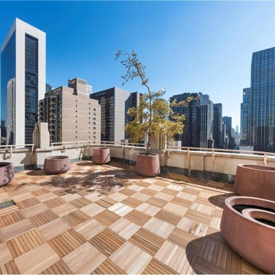 Rooftop Deck at 106 Central Park South in Manhattan