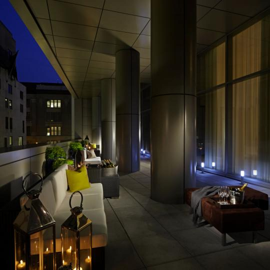 Trump Soho Condominium Hotel Patio- Manhattan Condos for Sale