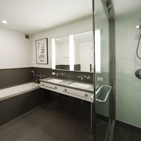 Urban Glass House- Bathroom- NYC condominium for sale