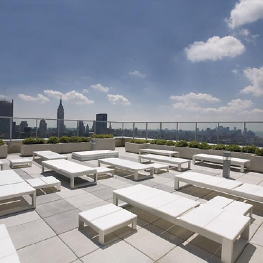 The Atelier Rooftop Deck-New Construction Condos For Sale in Clinton, NYC