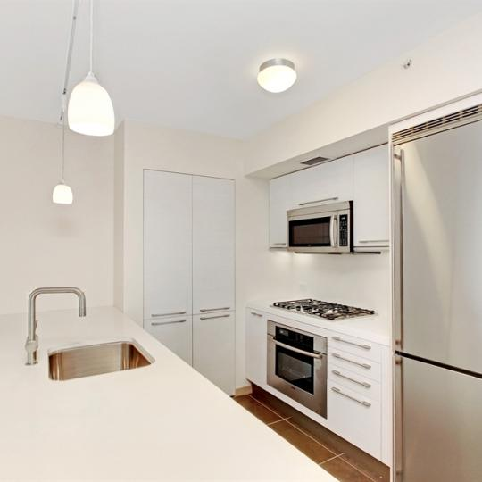 Village Green New Construction Building Side - NYC Condos Building Kitchen