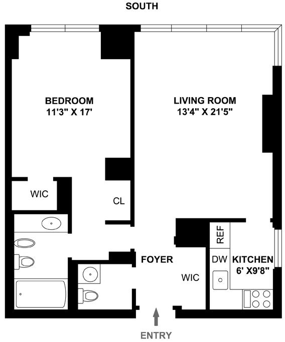 1 Bedroom Apartment Manhattan: 146 West 57th Street