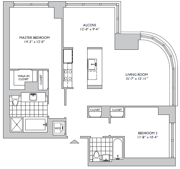2 Bedroom Apartments In Nyc: The Oro At 306 Gold Street