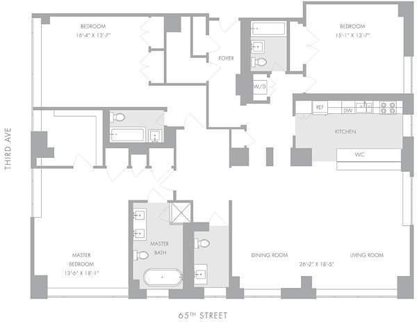3 Bedroom Apartments  Starting at  2 900 000  Floorplans A B C D. Manhattan House   200 East 66th Street   Upper East Side condos