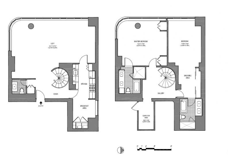 one bedroom duplex floor plan submited images