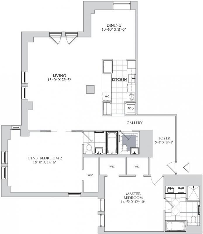 The jw marriott essex house 160 central park south for Floor plans jumeirah park