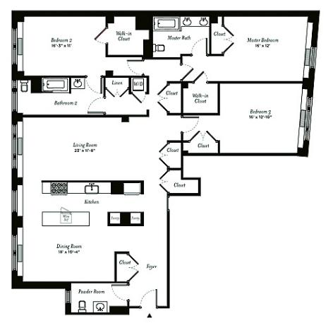The Estates At Park Avenue Apartments in addition Modern Townhouse With Loft Design New moreover Artists Sketch Floorplan Friends Apartments Famous TV Shows also 3 Bedroom Apartments For Rent In Nyc together with 0018006. on greenwich village apartments floor plans