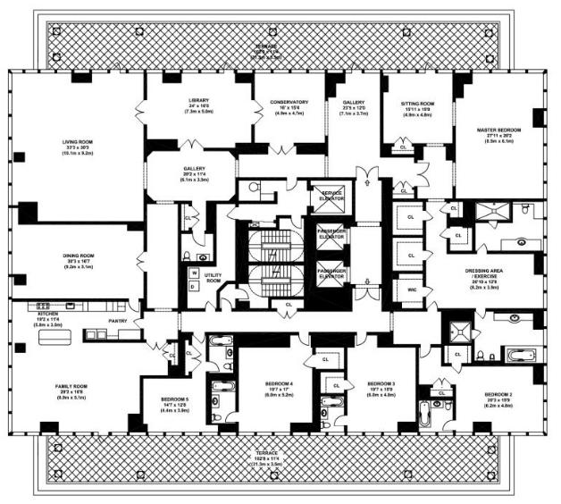 Penthouse 4 Bed additionally Palm Beach as well  besides Luxury House For Sale Eaton Mews North London Belgravia Sw1 furthermore Floor Plans. on 2 bedroom penthouse plans