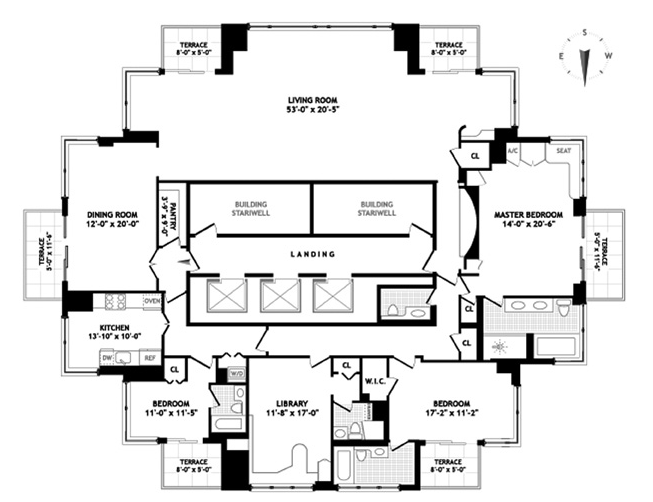 Trump palace 200 east 69th street upper east side for Apartment floor plans nyc