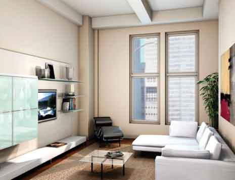 The Morgan Lofts Living Room - Murray Hill NYC Condominiums