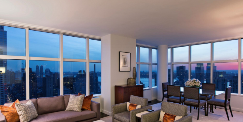 Living Room at 3 Lincoln Center in Upper West Side