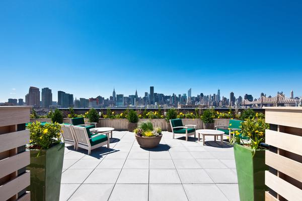 Rooftop Deck at The Industry in NYC - Condos for sale