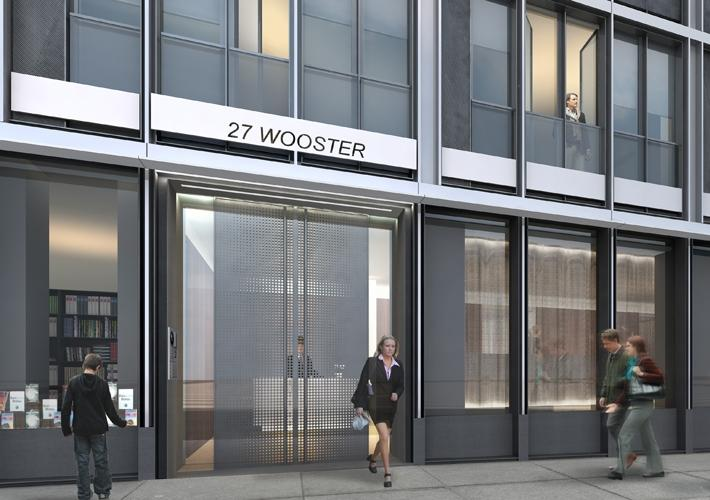 27 Wooster Street entrance- Apartments for sale in Soho