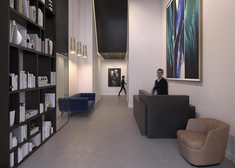 The Building's lobby at 287 East Houston Street in Manhattan