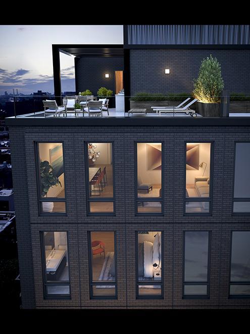 Rooftop Terrace at 287 East Houston Street in Greenwich Village