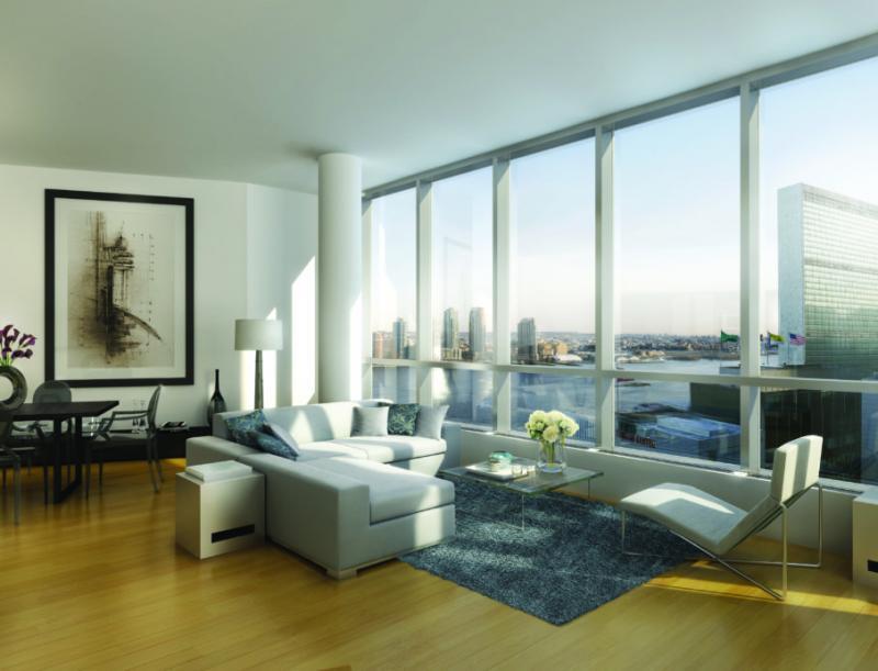 Living Room - Alexander Plaza - Turtle Bay - NYC Condos