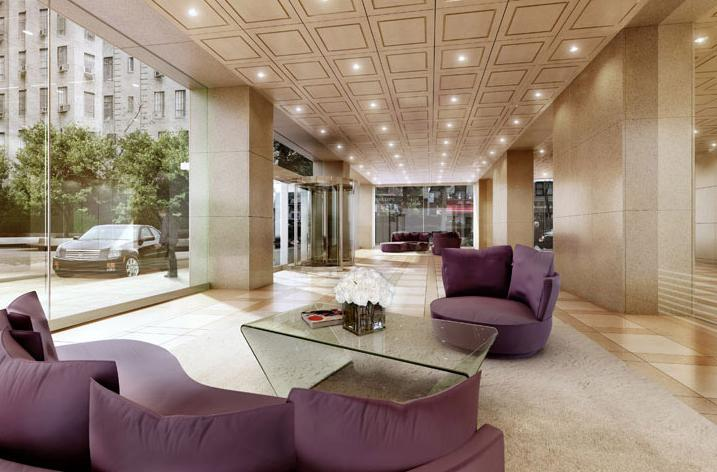 The Sheffield 57 Lobby - Midtown West NYC Condominiums