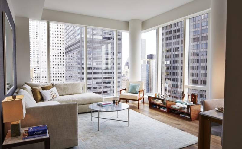 Living Room - 325 Lexington Avenue - New Construction Manhattan Condominium NYC