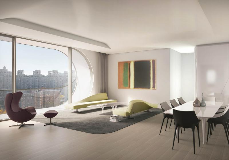Livingroom at 520 West 28th Street in NYC