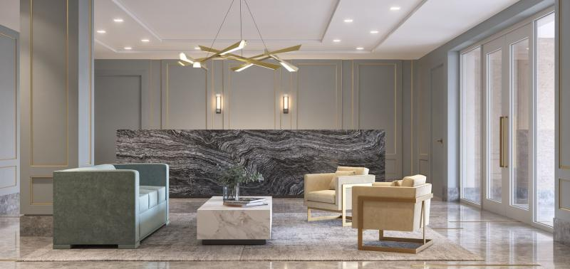 Lobby at 62 Avenue B in Manhattan - Condos for sale