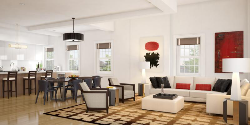 Living Room- 72 Poplar Street- condo for sale in NYC