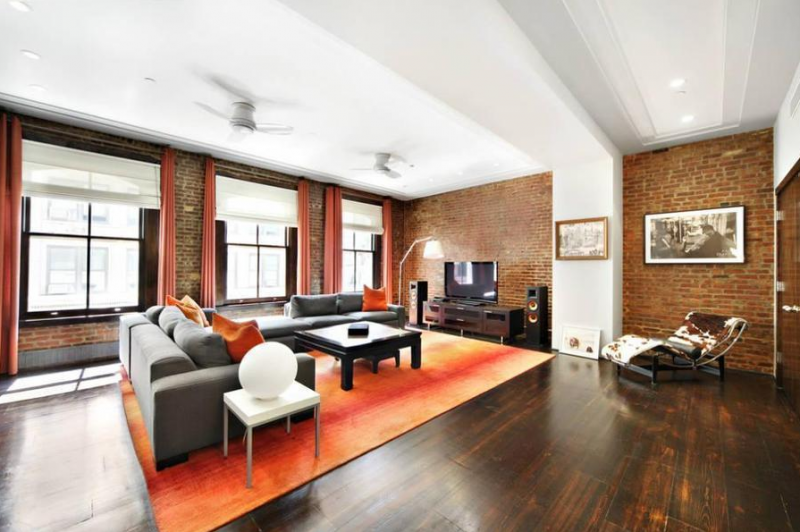 Living Room Space - Trinity Stewart Condo Tribeca