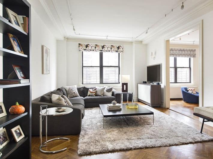 Living Room at 905 West End Avenue in Manhattan