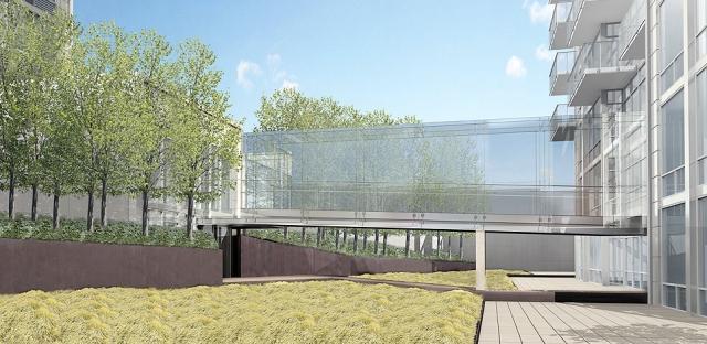 A Building Courtyard – Manhattan Condos for Sale