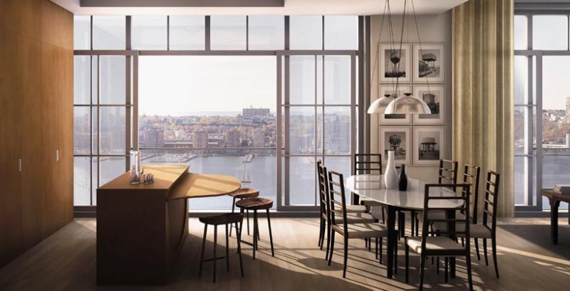 200 Eleventh Avenue New Construction Building Dining Area – NYC Condos