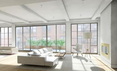 316 East 22nd Street Living Room – Gramercy Park NYC Condominiums