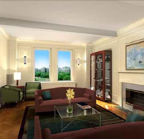 1200 Fifth Avenue Living Room - Manhattan Condos for Sale
