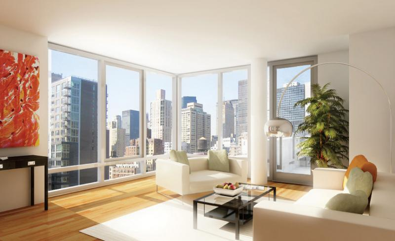 303 East 33rd Street Living Room – Manhattan New Condos