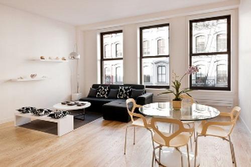 77 Reade Street Living Room – Manhattan Condos for Sale