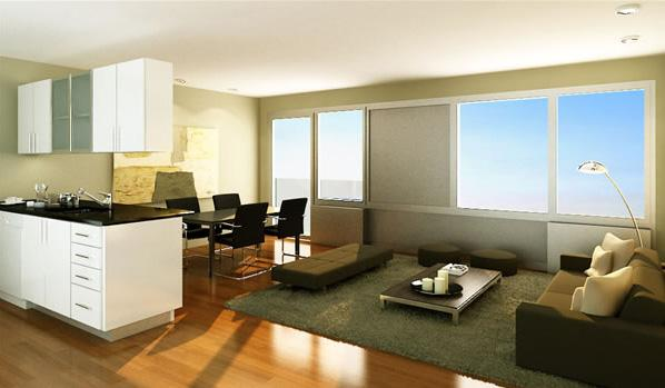The Vetro Living Room - Manhattan Condos for Sale