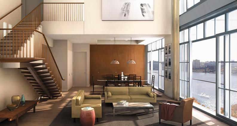 200 Eleventh Avenue Living Room – Manhattan Condos for Sale