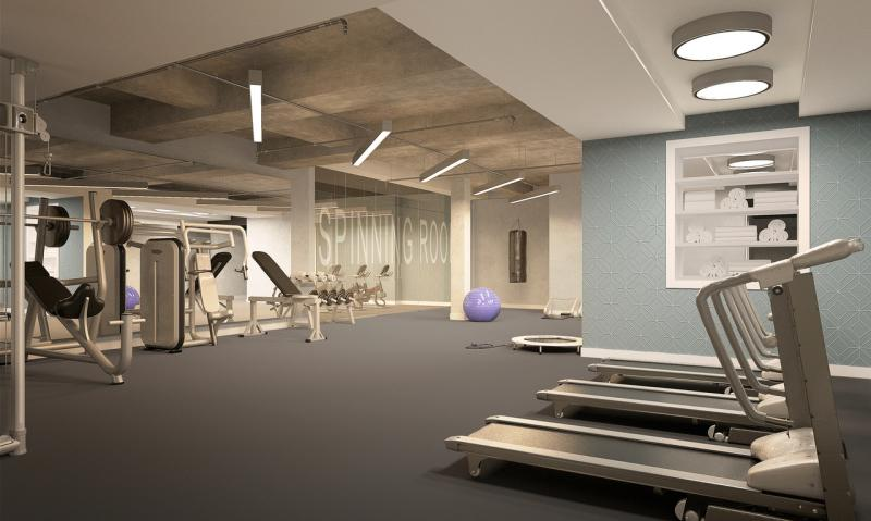 Wide variety of amenities at Nine52 in Midtown West - Fitness Center