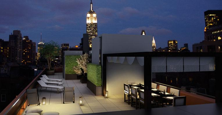The Emory Rooftop Terrace - Manhattan Condominiums for Sale