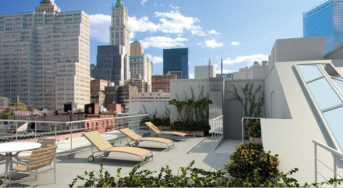 52 Thomas Street Sun Deck – Manhattan Condos for Sale