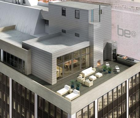 Be@William New Construction Building Roof Deck Terrace – NYC Condos