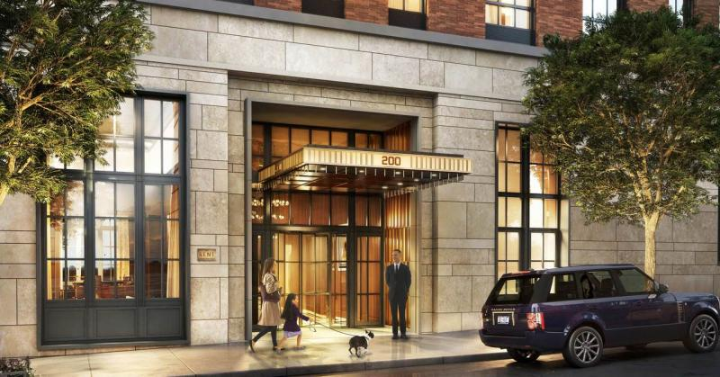 The Building's entry at 200 East 95th Street in NYC