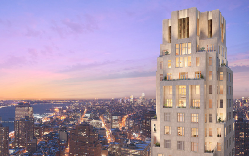 Four Seasons Hotel - Tribeca Apartments For Sale Building View