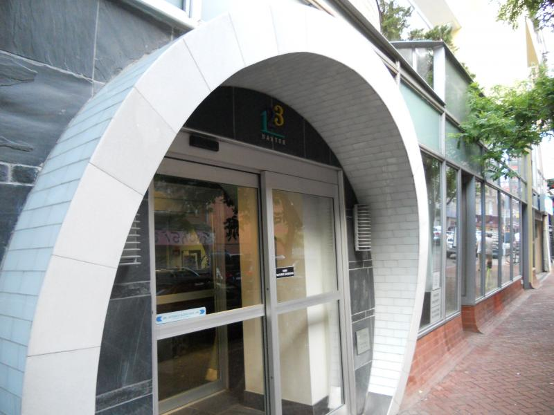 The Building's entry at 123 Baxter Street