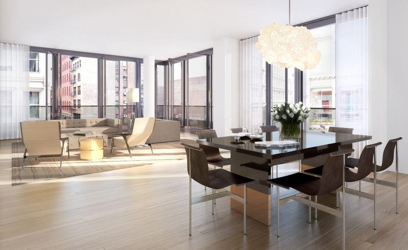 Dining/Living Room- 27 Wooster Street- NYC condos for sale