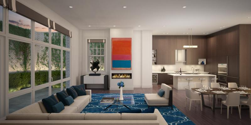 Living Room- 72 Poplar Street-NYC condo for sale
