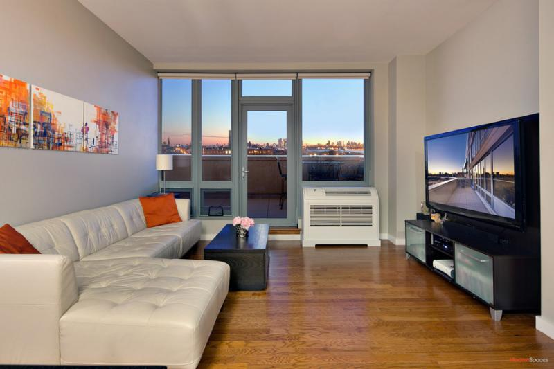 Living Room - One Hunters Point - Condos - Long Island City