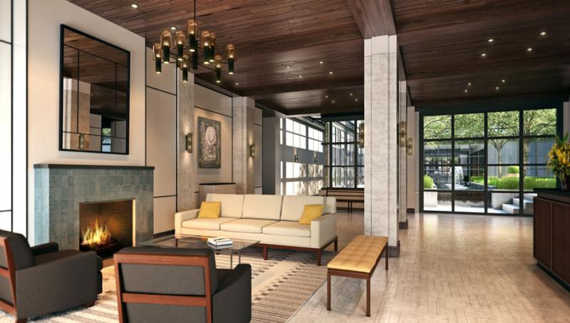 Lobby of 71 Laight Street in Tribeca - NYC Apts for sale